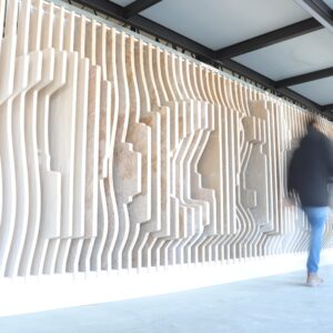 180 layers of Stones panel with person